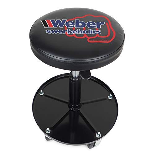 Weber Werkstatthocker höhenverstellbarer mit Rollen - Montagehocker - Werkstattsitz