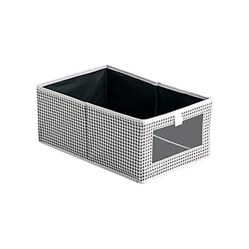 Kousa Caja de almacenamiento de tela para ropa de artículos de la caja de clasificación simple para el hogar caja de almacenamiento de celosía grande 39,5 x 28 x 17 cm