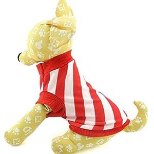 Zunea Petit Chien Vêtements pour femmes d'été Rayures diagonales Gilet pour homme Rouge