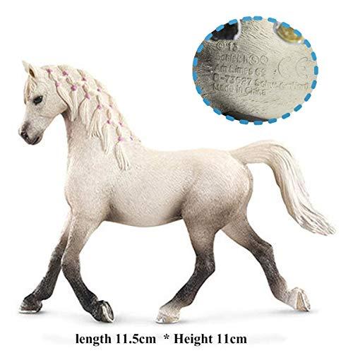 Originele echte paard Fjord Arabische IJslandse Tennessee Hannoveraanse figuur diermodel kinderen speelgoed collectible beeldjes, vrouwelijke Arabische
