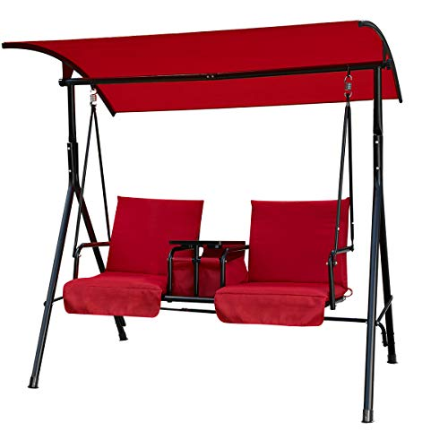 U-MAX 2 Person Porch Outdoor Patio Porch Swing...