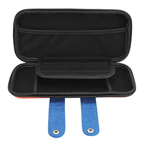 Bolsa de Almacenamiento con diseño de Cremallera EVA Espuma de Accesorio portátil a Prueba de rayones para Switch Game Host(Red)