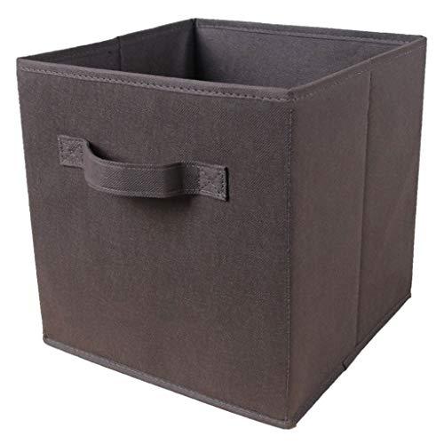 N / A Cube de Rangement Pliable Cube Divers Organisateur Panier Tissu Tiroir Cubby Organisateur Conteneur Boîte 26.7x26.7x28cm