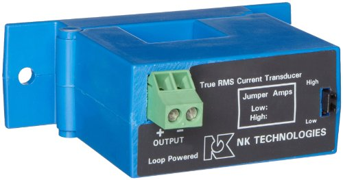 NK Technologies ATR1-420-24L-SP RMS Current Transducer, Split-core, 4-20mA Output Range, 0-10, 0-20, & 0-50A Input Range, 12-40VDC Power Supply