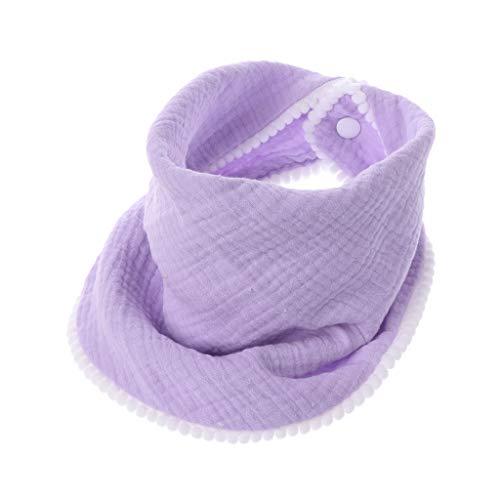 smallJUN Paños para eructos de bebé Gasa de algodón Muselina Babero para bebé Pañuelos Suavemente Transpirable Recién Nacidos Toalla Bufanda Cemento Maceta Morado Claro