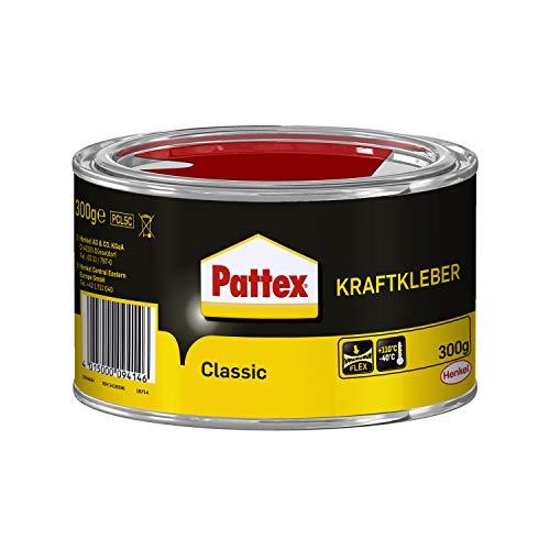 Pattex Kraftkleber Classic, extrem starker Kleber für höchste Festigkeit, Alleskleber für den universellen Einsatz, hochwärmefester Klebstoff, 1 x 300g