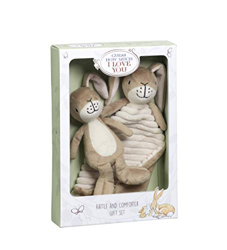 Guess How Much I Love You GH1515 Little Nutbrown Hare Rattle & Comfort Blanket Gift Set cadeauset, bruin
