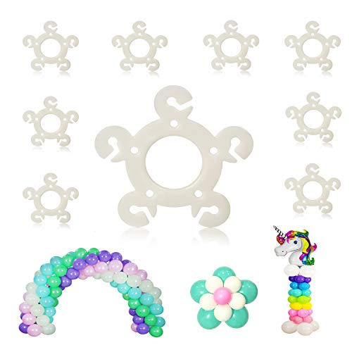 Party Zealot 120pcs Balloon Clips for Balloon Arch, Balloon Column Stand and Balloon Flowers Birthday Decoration