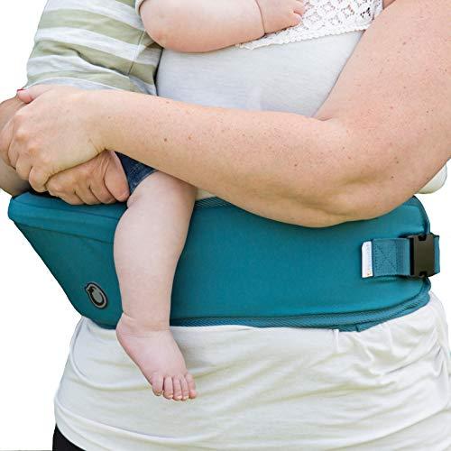 Hippychick - Hipseat - Asiento portabebés - Sencillo y ergonómico - Azul vivo