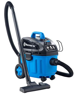 Vacmaster 4 Gallon, 5 Peak HP Household Vac w/Pet Hair Rake Wet/Dry Vacuum (VF409), Blue