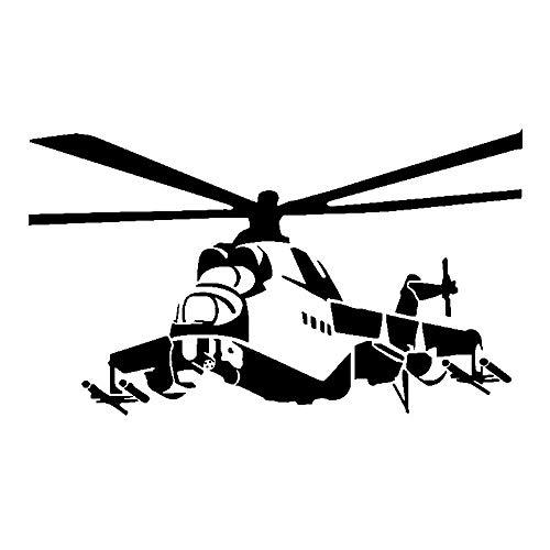 Aircraft ongebruikelijke vliegtuigen levendige nieuwe sjabloon bumpersticker decals csfssd (Color : Black)