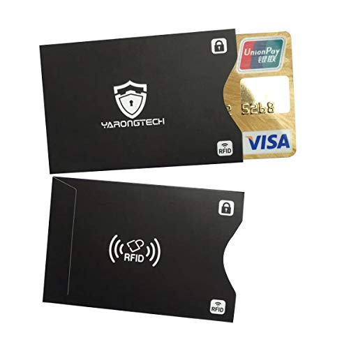 YARONGTECH Bloqueo RFID - Anti FRAUDE - Protectores Funda para Tarjetas de Credito Débito Sanitaria Identificaciones - Protector Pasaporte - Protección 100% de RFID NFC (Pack de 10)