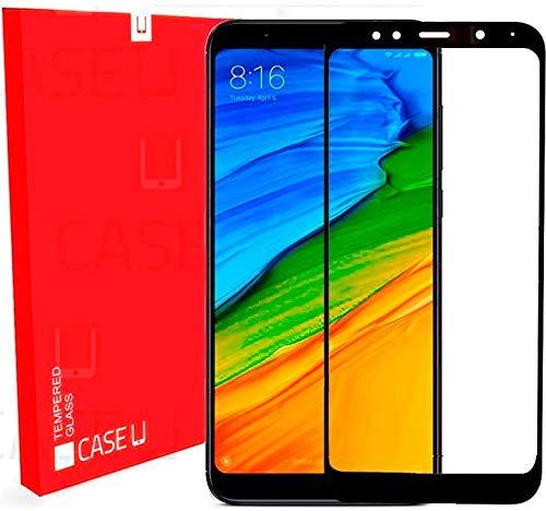 CASE U Full Coverage 5D Tempered Glass Screen Protector for Xiaomi Redmi 5 - Black