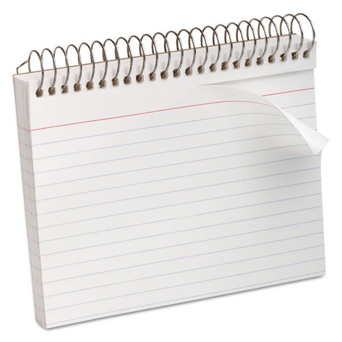 Oxford 40283 - Spiral Index Cards, 4 x 6, White, 50/Pack-ESS40283 by Oxford