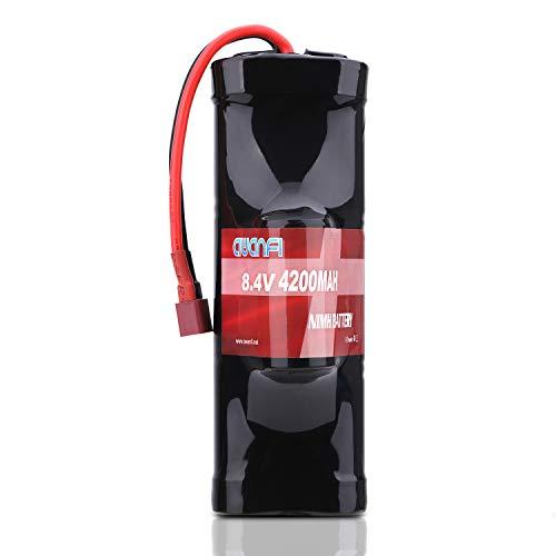 AWANFI RC Akku 8,4V 4200mah NiMH Akkupack Modellbau Batterie mit Deans T Stecker Ersatzakku für RC Auto Boot Buggy