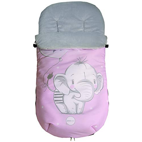 Pekebaby Elefantino - Saco Polar Universal Impermeable, Niñas, Color Rosa