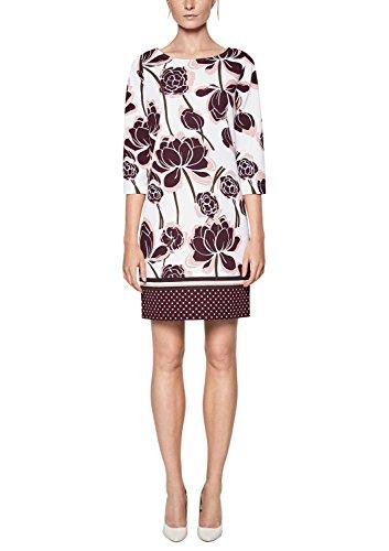 s.Oliver BLACK LABEL Damen 11.808.82.8161 Kleid, Elfenbein (White Panneau Print 02f2), 38
