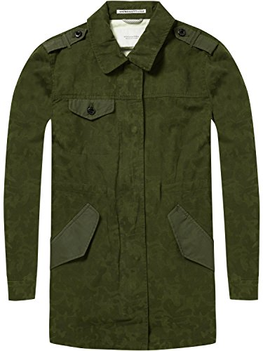 Scotch & Soda Maison Damen Military Jacke in Special Camouflage Print, Grün (Military Green 65), Small