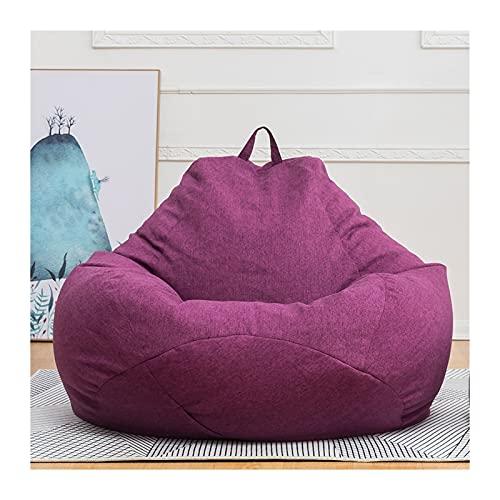 A-YSJ Bean Bag Bolsa De Frijoles Bolsa De Frijol Cubierta Sofá Cubierta Bolsa De Frijol Lazy Bolsa Sofá Cubierta De Silla, Reclinable Sin Rellenar, Tatami (Color : Purple L)