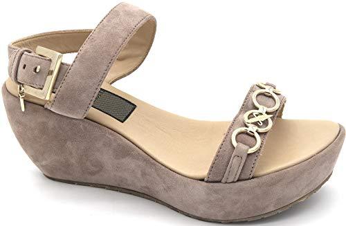 4US CESARE PACIOTTI Zapato sandalia de mujer con cepa casual de ante Art. FWD9 Size: 35