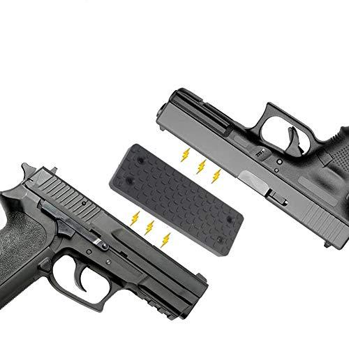 L-Yune, Gun caché Porte-Mont Pistolet magnétique for Revolver Arme de Poing de Camion de Voiture Seat Matelas Chevet for Glock Taurus G2C 1911 Magazine (Couleur : Noir)