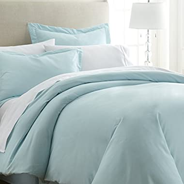 ienjoy Home Hotel Collection Soft Brushed Microfiber Duver Cover Set, Queen, Aqua