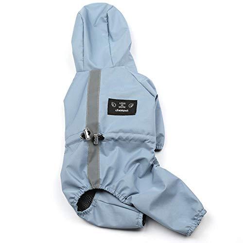 Xinger Imperméable à Bande réfléchissante pour Chiens Vêtements imperméables pour Chiens Pluie sur Le Chien Universal Season Small Pet Puppy Raincoats, A, XL