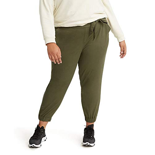 Levi's Women's Plus-Size Belted Jet Set Joggers, Comfy Olive Night - Green, 42 (US 22)