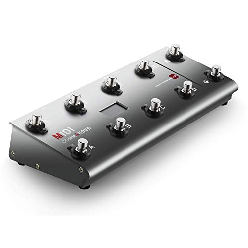 MeloAudio MIDI Commander Guitar Floor Multi-Effects Portable USB MIDI Foot Controller with 10 Foot Switches, 2 Expression Pedal Jacks and 8 Host Presets