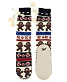Lazy One Knitted Slipper Socks for Women, Cute Women's Clothing, Holiday (Sweet Cheeks Gingerbread, S/M)