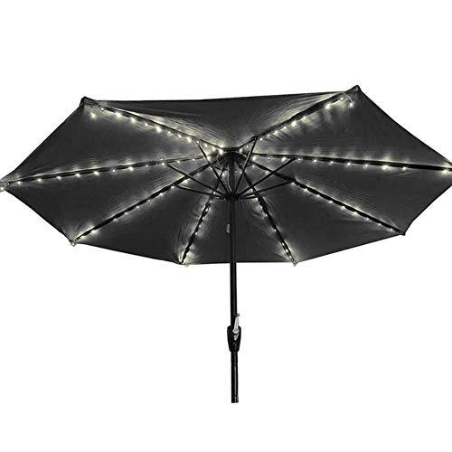 Breeezie Solar Garden Umbrella Light Schnurlose Sonnenschirm-Lichterkette mit Clip Umbrella Pole Solar Powered Waterproof Geeignet für 7-10 Fuß Umbrella Outdoor