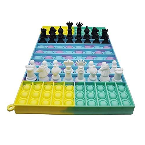 Freshwater Fidget Toys Antistress, Push Pop Bubble Fidget Jouets sensoriels, Jeux pour Personnes âgées et échecs pour Enfants Jouet de soulagement du Stress Jeu de fête interactif Jouets sensoriels