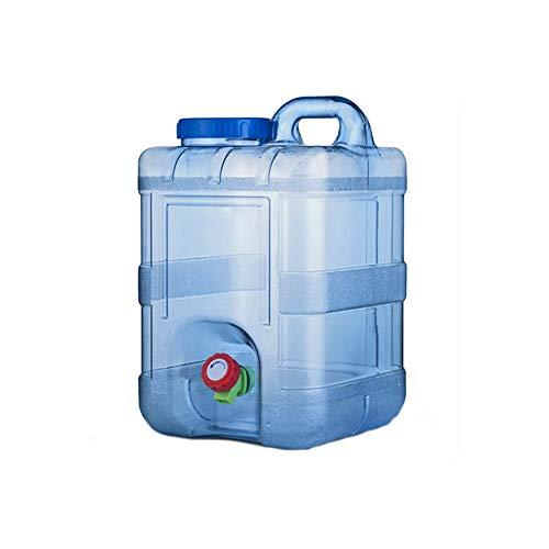 DaoRier Jerrican Alimentaire Camping avec Un Robinet 15L, Bidon d'eau avec Bec Verseur en Plastique Epais pour Le Transport d'eau, Parfait pour Voyage Voiture Maison