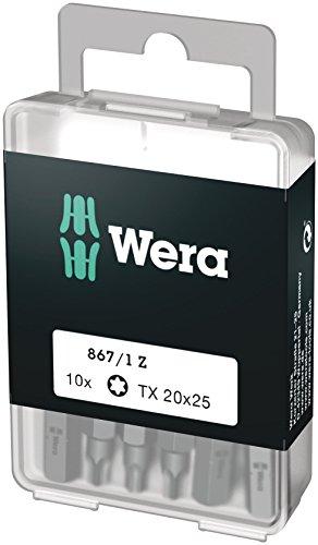 Wera Bit-Sortiment, 867/1 TX 20 DIY, TX 20 x 25 mm (10 Bits pro Box), 05072408001