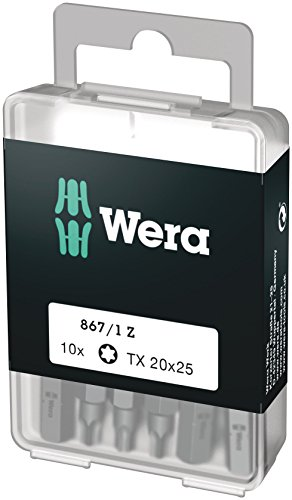 Wera Bit-Sortiment, 867/1 TX 20 DIY, TX 20 x 25 mm (10 Bits pro Box), 05072408001
