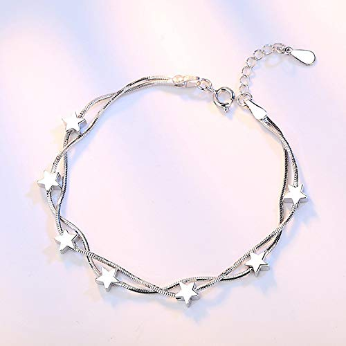 Jewellery Bracelets Bangle For Womens 925 Sterling Silver Bracelet For Women Design Chain Bracelet Korea Fashion Jewelry Gift New Stardesign