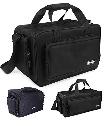 Bodyguard Videotasche XXL Jupiter Fototasche groß für große Foto und Videokamera Tasche mit Variable Inneneinteilung für 5 Fächer