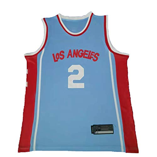 WXZB Camiseta de baloncesto de Leonard, transpirable, de secado rápido, adecuada para varios deportes, color azul