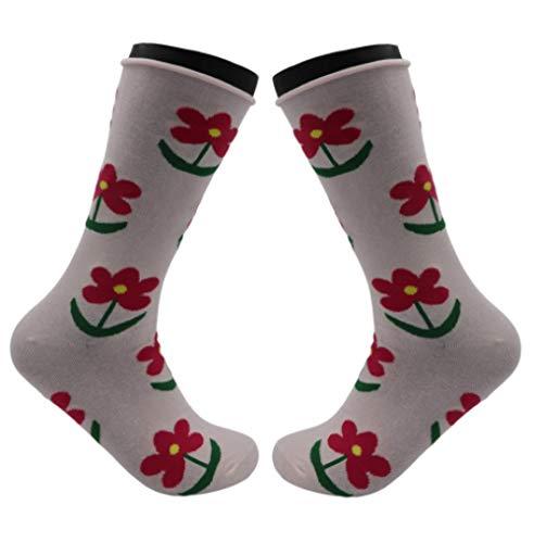 Trendcool Calcetines Mujer Divertidos Talla 36-40. Pack Calcetines Largos 98% Algodón Estampados. Calcetines Altos con Dibujos Colores de Diseño Graciosos. (M4, 3)