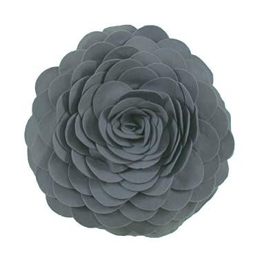 Eva's Flower Garden Decorative Throw Pillow With Insert - 13 inch Round