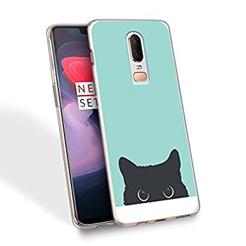 HELLO GIFTIFY Phone Case Compatible with iPhone 6s / iPhone 6 4.7 inch Clear Soft TPU Gel Protective Rubber Cover Tiffany Blue& Cat Designed