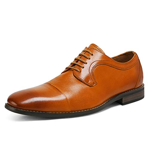 Bruno Marc Men's Genuine Leather Dress Oxfords Lace-up Shoes Brown 11 M US JFB19002M