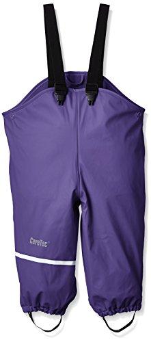 CareTec Kinder wasserdichte Regenlatzhose mit Fleecefutter (verschiedene Farben), Violett (Purple 633), 74