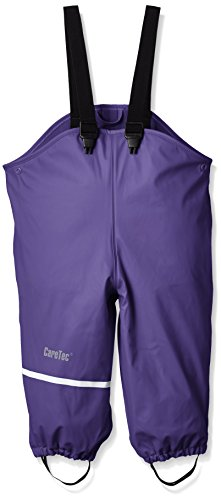 CareTec Kinder wasserdichte Regenlatzhose mit Fleecefutter (verschiedene Farben), Violett (Purple 633), 86