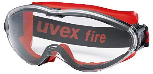 Uvex Ultrasonic Supravision Excellence Schutzbrille - Transparent/Rot-Schwarz