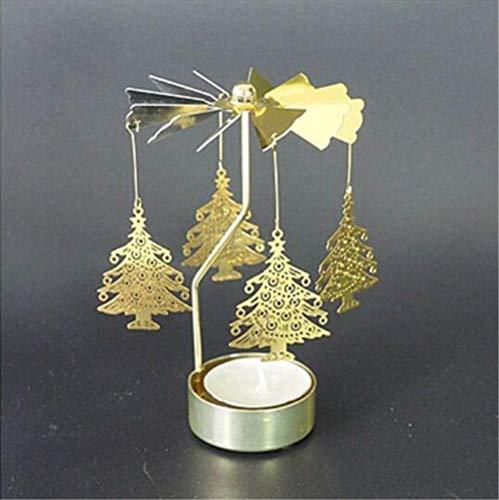 YZCKW Candeliere A Rotazione Rotazione Rotante Filatura Carosello Luce Del Tè Illuminazione Dell'Albero Di Natale Migliore Regalo F Candeliere