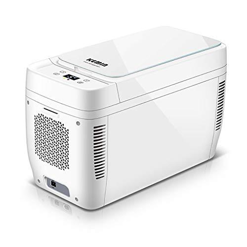 Draagbare mini-koelkast, 11 liter, kleine koelapparaat, 12 V-24 V/Home 220 V, dubbele use koelkast, touch temperatuurregeling, voor kamperen