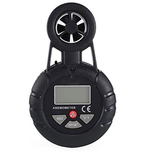 XIXIDIAN Medidor de Viento Digital, anemómetro Mini Calibre de Temperatura de Velocidad del Viento con termómetro LCD Retroiluminación para el Windsurf Kite Volando navegando