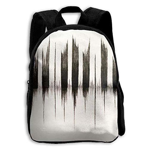 ADGBag Children's Piano Keys Sound Waves Backpack Schoolbag Shoulders Bag for Kids Kinder Rucksack