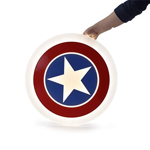 Captain America Shield Design – Lámpara LED de techo para habitación infantil regulable con mando a distancia creativa redonda ultrafina iluminación de techo para niños niñas dormitorio,Ø42cm,27W